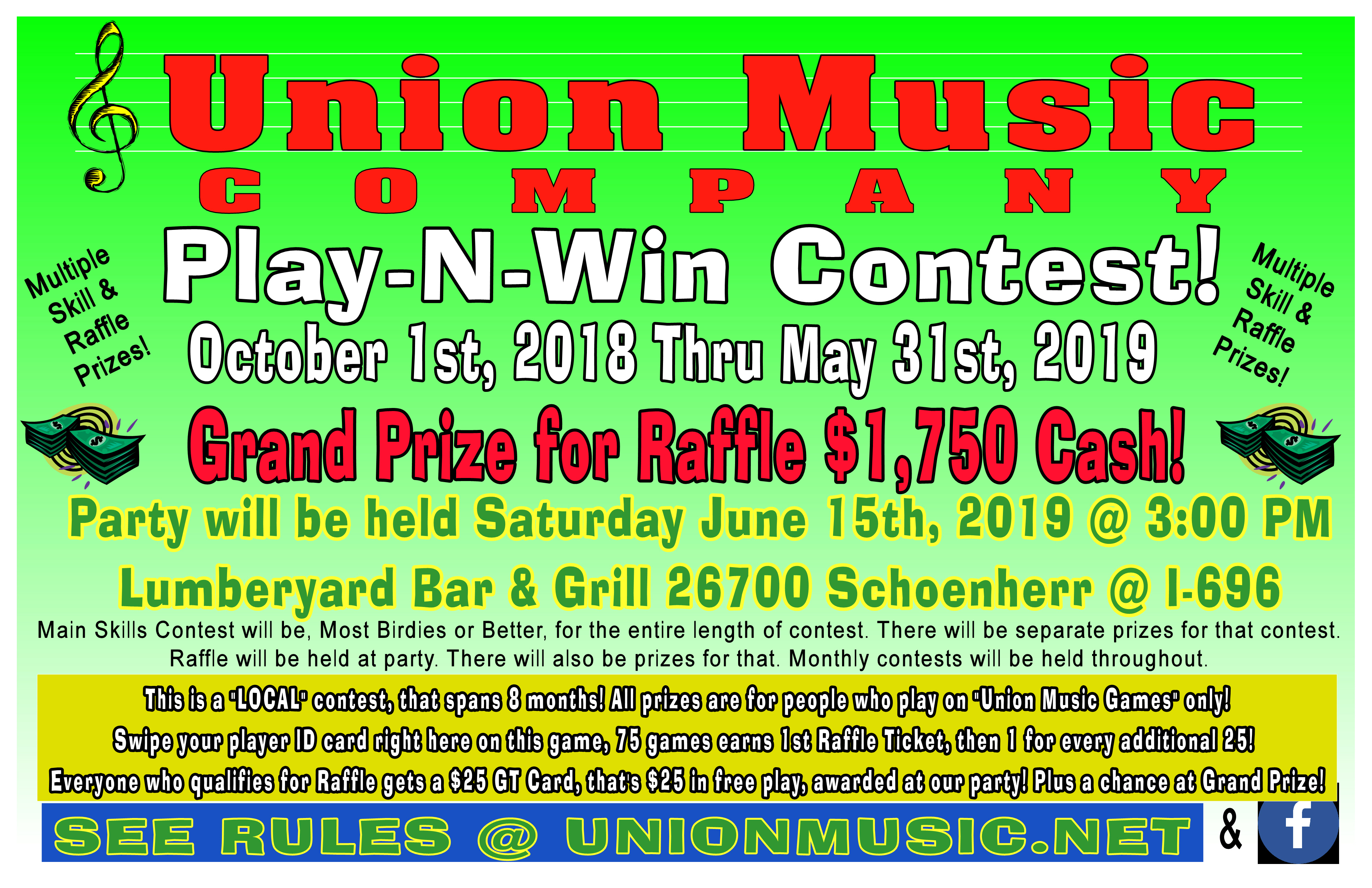 Tournaments by Union Music – Darts, Pool, and Vending for